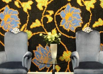 Новые цветочные панно из мозаики.