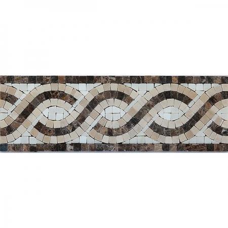 Бордюр из мраморной мозаики K06.NB067
