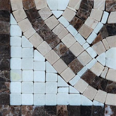 Угол из мраморной мозаики K06.NB067-Corner