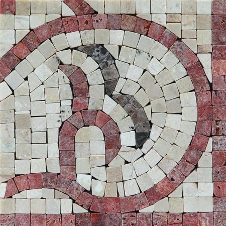 Угол из мраморной мозаики K06.NB082B-Corner
