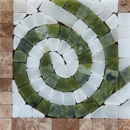 Угол из мраморной мозаики K06.NB093A-P-Corner