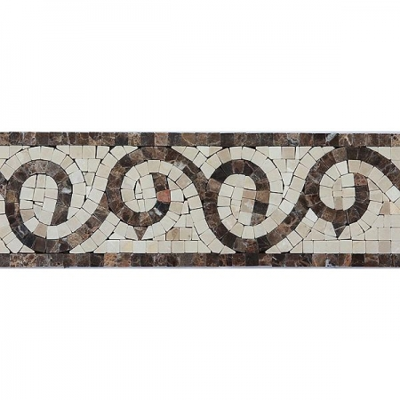 Бордюр из мраморной мозаики K06.NB121A