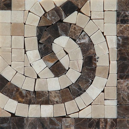 Угол из мраморной мозаики K06.NB121A-Corner