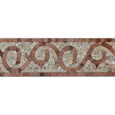 Бордюр из мраморной мозаики K06.NB121B