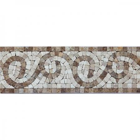 Бордюр из мраморной мозаики K06.NB121C
