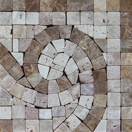 Угол из мраморной мозаики K06.NB121C-Corner