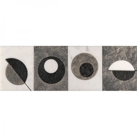 Бордюр из мрамора Skalini Modern Circle 6