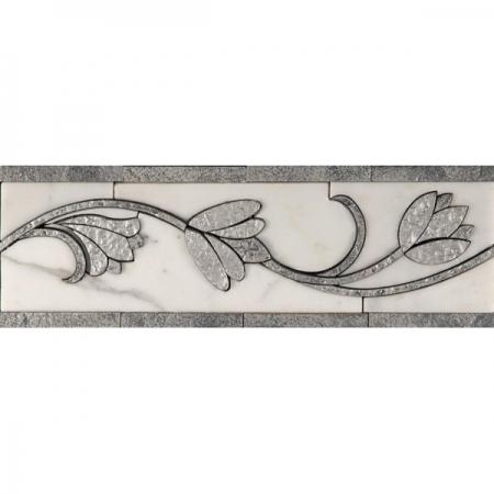 Бордюр из мрамора Skalini Tulip 2