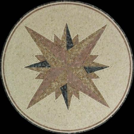 Розон из мозаики PH-023