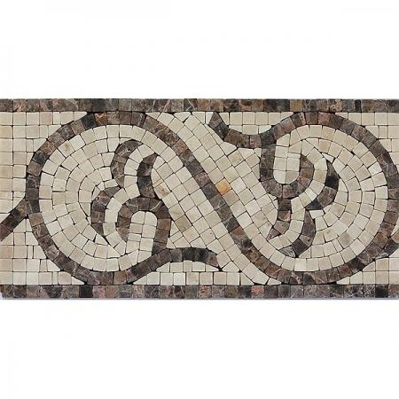 Бордюр из мраморной мозаики K06.NB082A
