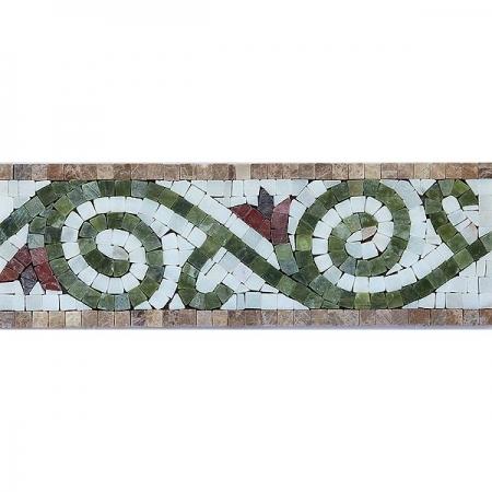 Бордюр из мраморной мозаики K06.NB093A-P