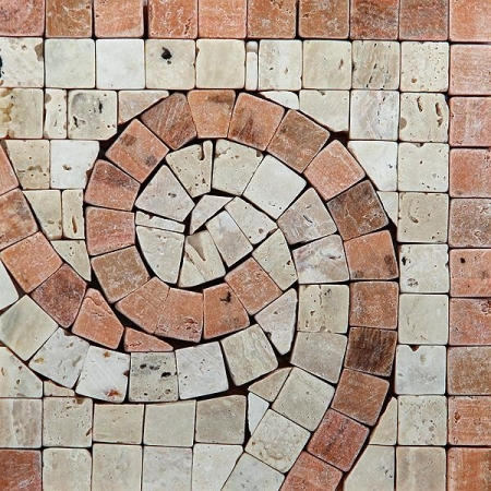 Угол из мраморной мозаики K06.NB121B-Corner