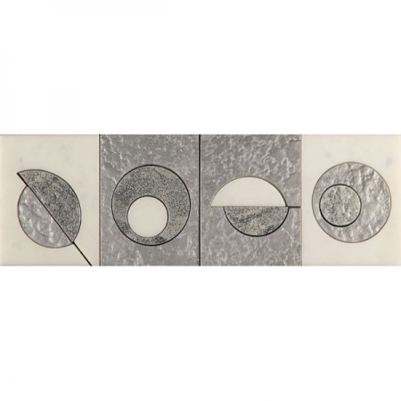 Бордюр из мрамора Skalini Modern Circle 2