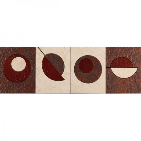 Бордюр из мрамора Skalini Modern Circle 3