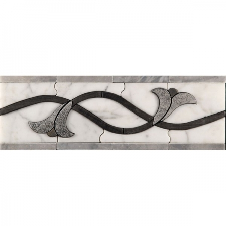 Бордюр из мрамора Skalini Lila 2
